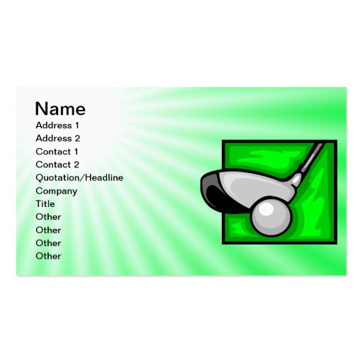 Collections of go green business cards page7 neon green golf business card reheart Gallery