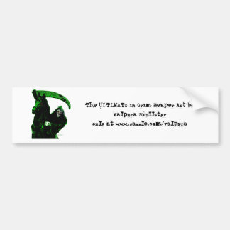 Neon Green Grim Reaper Horseman Series by Valpyra Bumper Sticker