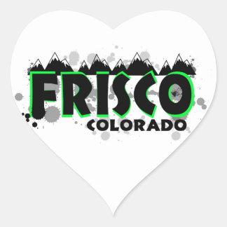 Neon green grunge Frisco Colorado Stickers