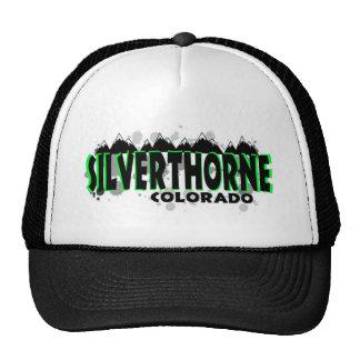Neon green grunge Silverthorne Colorado Hats