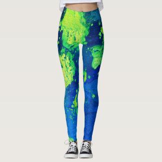 Neon Green Haze II Leggings