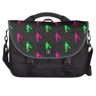 Neon Green, Hot Pink, Basketball Player, Black Commuter Bags