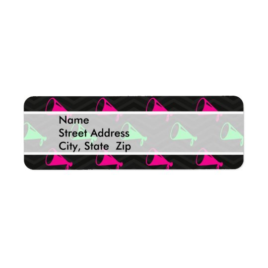 Neon Green, Hot Pink, Cheerleader, Black Chevron