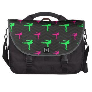 Neon Green, Hot Pink, Karate, Black Chevron Bags For Laptop