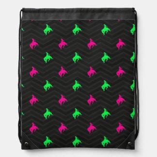 Neon Green, Hot Pink, Rodeo Cowboy, Black Chevron Cinch Bags