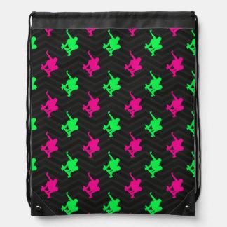 Neon Green, Hot Pink, Skater, Black Chevron Backpack
