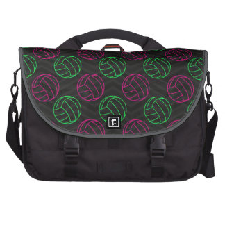Neon Green, Hot Pink, Volleyball, Black Chevron Bag For Laptop