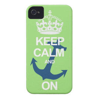 Neon Green Keep Calm & Carry On Sailng iPhone Case