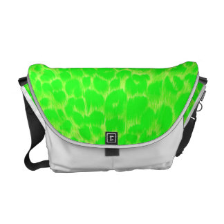 Neon Green Leopard Messenger Bag