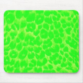 Neon Green Leopard Print Mouse Mat