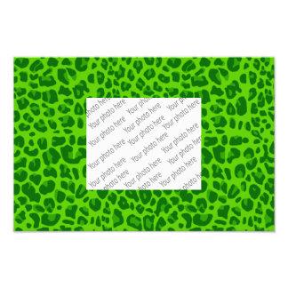 Neon green leopard print pattern photograph