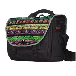 Neon Green Mosaic Laptop Messenger Bag