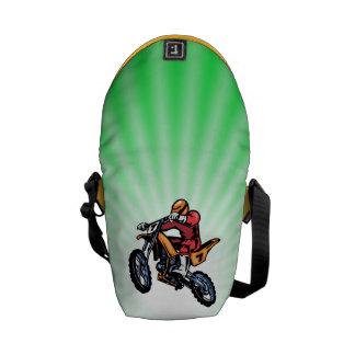 Neon Green Motocross Courier Bags