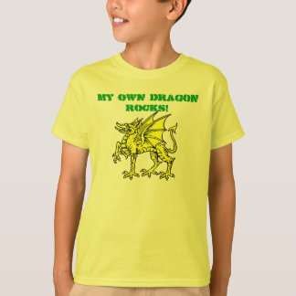 Neon Green MY OWN DRAGON ROCKS! Kid's T-Shirt
