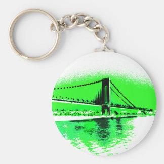 Neon Green Narrows keychain