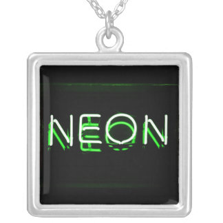 NEON - Green Neon Sign Necklace