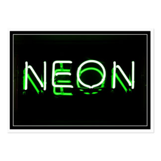 NEON - Green Neon Sign Pack Of Chubby Business Cards
