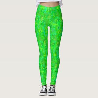 Neon Green Pattern Leggings