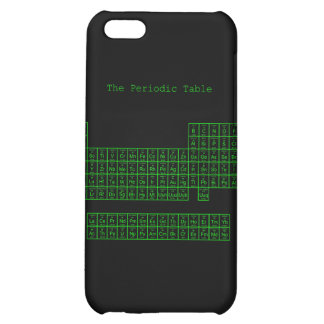 Neon Green Periodic Table iPhone 5C Cases