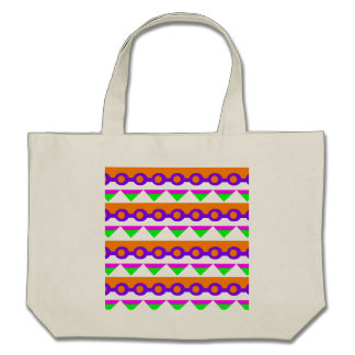 Neon green pink and orange abstract design tote bags