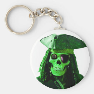 Neon Green Pirate with skully & patch Key Ring