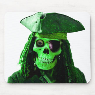 Neon Green Pirate with skully & patch Mouse Mat