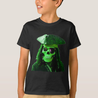 Neon Green Pirate with skully & patch T-shirts