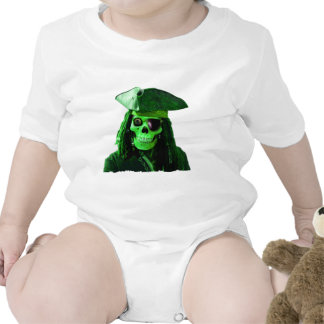 Neon Green Pirate with skully & patch Tee Shirts