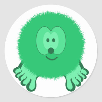 Neon Green Pom Pom Pal Stickers