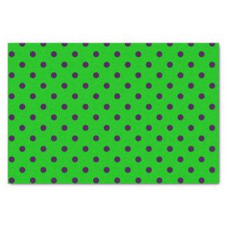 Neon Green & Purple Polka Dots Tissue Paper