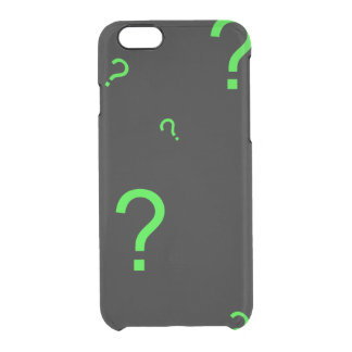 Neon Green Question Mark iPhone 6 Plus Case