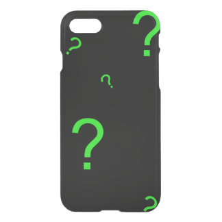 Neon Green Question Mark iPhone 7 Case
