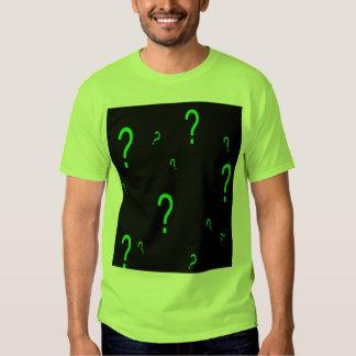 Neon Green Question Mark T-shirt