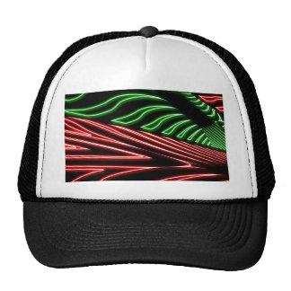 Neon green red zebra cap