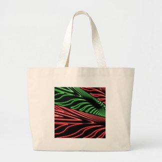 Neon green red zebra jumbo tote bag