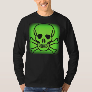 NEON GREEN SKULL AND CROSSBONES PRINT T-Shirt