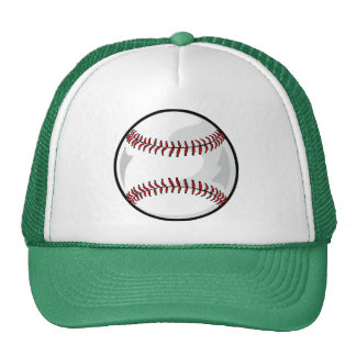 Neon Green Softball; Baseball Trucker Hat