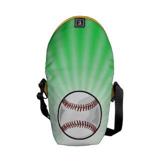 Neon Green Softball; Baseball Commuter Bag