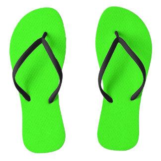 NEON GREEN (solid color) ~ Flip Flops