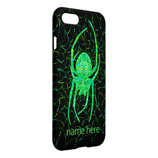 Neon Green Spider Spooky iphone7 Add Your Name iPhone 7 Case