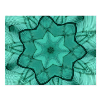 neon green star - abstract modern pattern design postcard