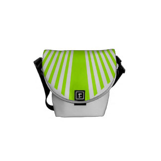 Neon Green Stripes Courier Bag