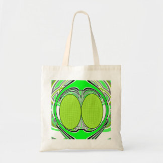 Neon green superfly design tote bag