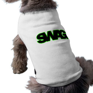 Neon Green SWAG Sleeveless Dog Shirt
