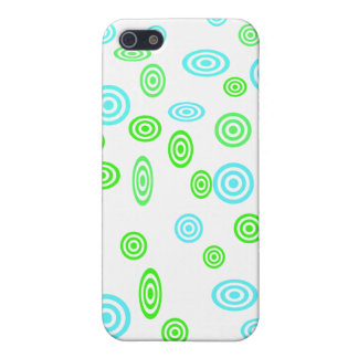 Neon green teal polka dots pattern iPhone 5/5S covers