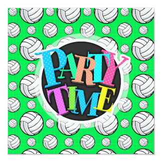 Neon Green Volleyball Pattern Card