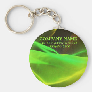 neon green waves abstract business promotional key chains