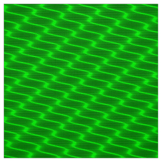 Neon Green Wavy Lines Fabric Pattern