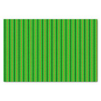 Neon Green with Orange & Black Stripes Tissue Paper