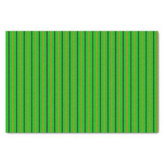 Neon Green with Orange & Purple Stripes Tissue Paper